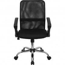 Flash Furniture GO-6057-GG Mid-Back Black Mesh Task Chair addl-3