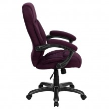 Flash Furniture GO-725-GRPE-GG High Back Grape Microfiber Upholstered Contemporary Executive Chair addl-1