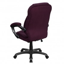 Flash Furniture GO-725-GRPE-GG High Back Grape Microfiber Upholstered Contemporary Executive Chair addl-2