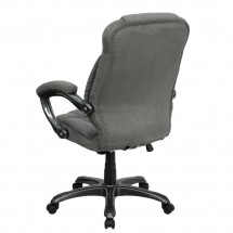 Flash Furniture GO-725-GY-GG High Back Gray Microfiber Upholstered Contemporary Executive Chair addl-2
