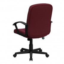 Flash Furniture GO-ST-6-BY-GG Mid-Back Burgundy Fabric Task and Executive Chair with Nylon Arms addl-2