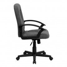 Flash Furniture GO-ST-6-GY-GG Mid-Back Gray Fabric Task and Executive Chair with Nylon Arms addl-1