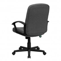 Flash Furniture GO-ST-6-GY-GG Mid-Back Gray Fabric Task and Executive Chair with Nylon Arms addl-2