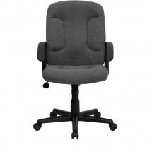 Flash Furniture GO-ST-6-GY-GG Mid-Back Gray Fabric Task and Executive Chair with Nylon Arms addl-3