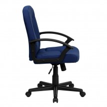 Flash Furniture GO-ST-6-NVY-GG Mid-Back Navy Fabric Task and Executive Chair with Nylon Arms addl-1