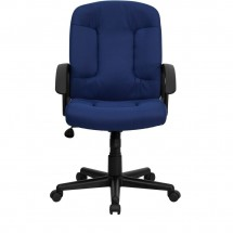 Flash Furniture GO-ST-6-NVY-GG Mid-Back Navy Fabric Task and Executive Chair with Nylon Arms addl-3