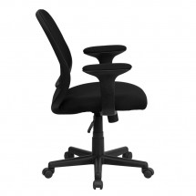 Flash Furniture GO-WY-05-A-GG Y-GO Mid-Back Black Mesh Task Chair with Arms addl-1