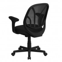 Flash Furniture GO-WY-05-A-GG Y-GO Mid-Back Black Mesh Task Chair with Arms addl-2