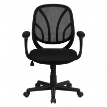 Flash Furniture GO-WY-05-A-GG Y-GO Mid-Back Black Mesh Task Chair with Arms addl-3