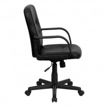 Flash Furniture H8020-GG Mid-Back Black Glove Vinyl Executive Office Chair addl-1