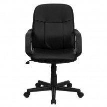 Flash Furniture H8020-GG Mid-Back Black Glove Vinyl Executive Office Chair addl-3