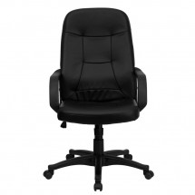 Flash Furniture H8021-GG High Back Black Glove Vinyl Executive Office Chair addl-3