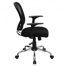 Flash Furniture H-8369F-BLK-GG Mid-Back Black Mesh Office Chair addl-1