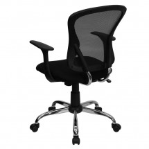 Flash Furniture H-8369F-BLK-GG Mid-Back Black Mesh Office Chair addl-2