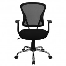 Flash Furniture H-8369F-BLK-GG Mid-Back Black Mesh Office Chair addl-3