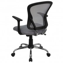 Flash Furniture H-8369F-GY-GG Mid-Back Gray Mesh Office Chair addl-2
