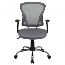Flash Furniture H-8369F-GY-GG Mid-Back Gray Mesh Office Chair addl-3
