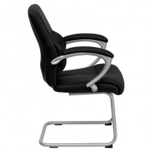 Flash Furniture H-9637L-3-SIDE-GG Black Leather Executive Side Chair addl-1