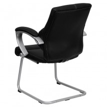 Flash Furniture H-9637L-3-SIDE-GG Black Leather Executive Side Chair addl-2
