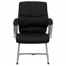 Flash Furniture H-9637L-3-SIDE-GG Black Leather Executive Side Chair addl-3