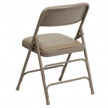 Flash Furniture HA-MC309AV-BGE-GG HERCULES Series Curved Triple Braced and Quad Hinged Vinyl Upholstered Metal Folding Chair - Beige addl-2