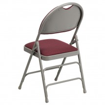 Flash Furniture HA-MC705AF-3-BY-GG HERCULES Series Extra Large Ultra-Premium Triple Braced Folding Chair - Burgundy addl-2