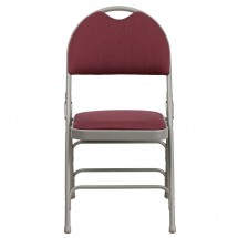 Flash Furniture HA-MC705AF-3-BY-GG HERCULES Series Extra Large Ultra-Premium Triple Braced Folding Chair - Burgundy addl-3