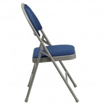 Flash Furniture HA-MC705AF-3-NVY-GG HERCULES Series Extra Large Ultra-Premium Triple Braced Metal Folding Chair - Navy addl-1