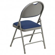 Flash Furniture HA-MC705AF-3-NVY-GG HERCULES Series Extra Large Ultra-Premium Triple Braced Metal Folding Chair - Navy addl-2
