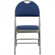 Flash Furniture HA-MC705AF-3-NVY-GG HERCULES Series Extra Large Ultra-Premium Triple Braced Metal Folding Chair - Navy addl-3