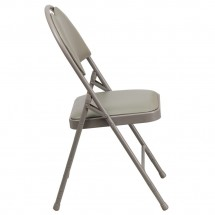 Flash Furniture HA-MC705AV-3-GY-GG HERCULES Series Extra Large Ultra-Premium Triple Braced Vinyl Metal Folding Chair - Gray addl-1