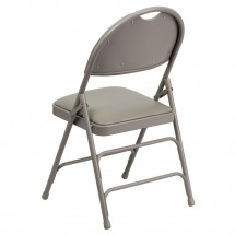 Flash Furniture HA-MC705AV-3-GY-GG HERCULES Series Extra Large Ultra-Premium Triple Braced Vinyl Metal Folding Chair - Gray addl-2