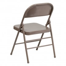 Flash Furniture HF3-MC-309AS-BGE-GG HERCULES Series Triple Braced and Quad Hinged Beige Metal Folding Chair addl-2