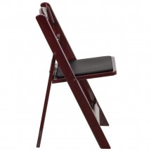 Flash Furniture LE-L-1-MAH-GG HERCULES Series Red Mahogany Resin Folding Chair with Black Vinyl Padded Seat addl-1