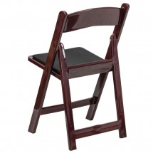 Flash Furniture LE-L-1-MAH-GG HERCULES Series Red Mahogany Resin Folding Chair with Black Vinyl Padded Seat addl-2