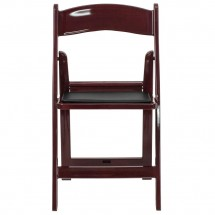 Flash Furniture LE-L-1-MAH-GG HERCULES Series Red Mahogany Resin Folding Chair with Black Vinyl Padded Seat addl-3