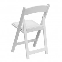 Flash Furniture LE-L-1-WHITE-GG HERCULES Series White Resin Folding Chair with White Vinyl Padded Seat addl-2