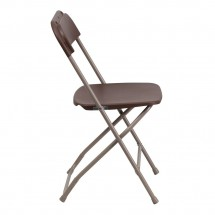 Flash Furniture LE-L-3-BROWN-GG HERCULES Premium Brown Plastic Folding Chair addl-1
