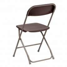 Flash Furniture LE-L-3-BROWN-GG HERCULES Premium Brown Plastic Folding Chair addl-2
