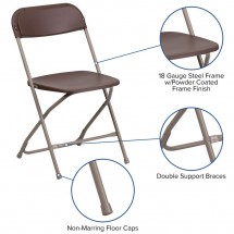 Flash Furniture LE-L-3-BROWN-GG HERCULES Premium Brown Plastic Folding Chair addl-5