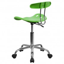 Flash Furniture LF-214-APPLEGREEN-GG Vibrant Apple Green and Chrome Computer Task Chair with Tractor Seat addl-2