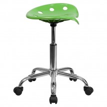 Flash Furniture LF-214A-SPICYLIME-GG Vibrant Spicy Lime Tractor Seat and Chrome Stool addl-1
