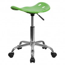 Flash Furniture LF-214A-SPICYLIME-GG Vibrant Spicy Lime Tractor Seat and Chrome Stool addl-2