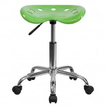Flash Furniture LF-214A-SPICYLIME-GG Vibrant Spicy Lime Tractor Seat and Chrome Stool addl-3