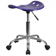 Flash Furniture LF-214A-VIOLET-GG Vibrant Violet Tractor Seat and Chrome Stool addl-2