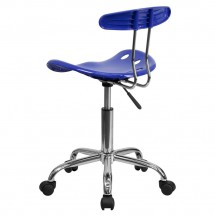 Flash Furniture LF-214-NAUTICALBLUE-GG Vibrant Nautical Blue and Chrome Computer Task Chair with Tractor Seat addl-2