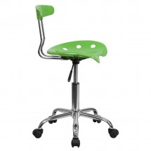 Flash Furniture LF-214-SPICYLIME-GG Vibrant Spicy Lime and Chrome Computer Task Chair with Tractor Seat addl-1