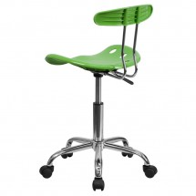 Flash Furniture LF-214-SPICYLIME-GG Vibrant Spicy Lime and Chrome Computer Task Chair with Tractor Seat addl-2