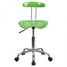 Flash Furniture LF-214-SPICYLIME-GG Vibrant Spicy Lime and Chrome Computer Task Chair with Tractor Seat addl-3