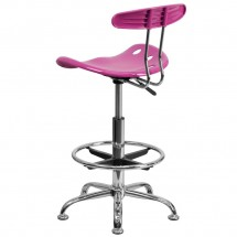 Flash Furniture LF-215-CANDYHEART-GG Vibrant Candy Heart and Chrome Drafting Stool with Tractor Seat addl-2